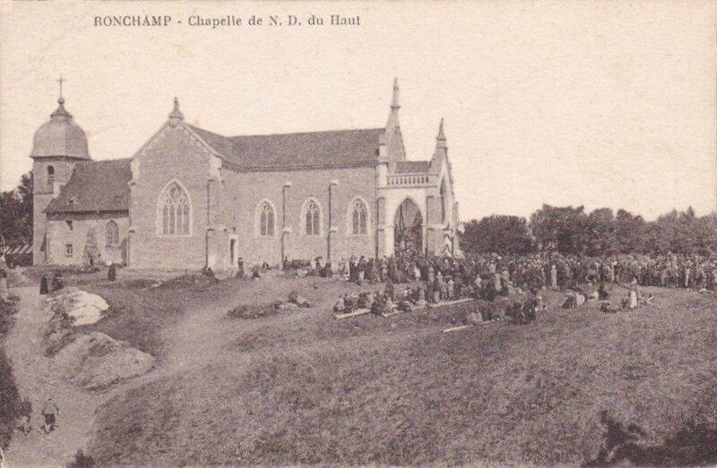 CPA Ronchamp Notre-Dame du Haut 1927 Sépia