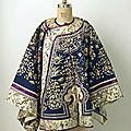 Coat, 1850–1900. chinese, silk, metal