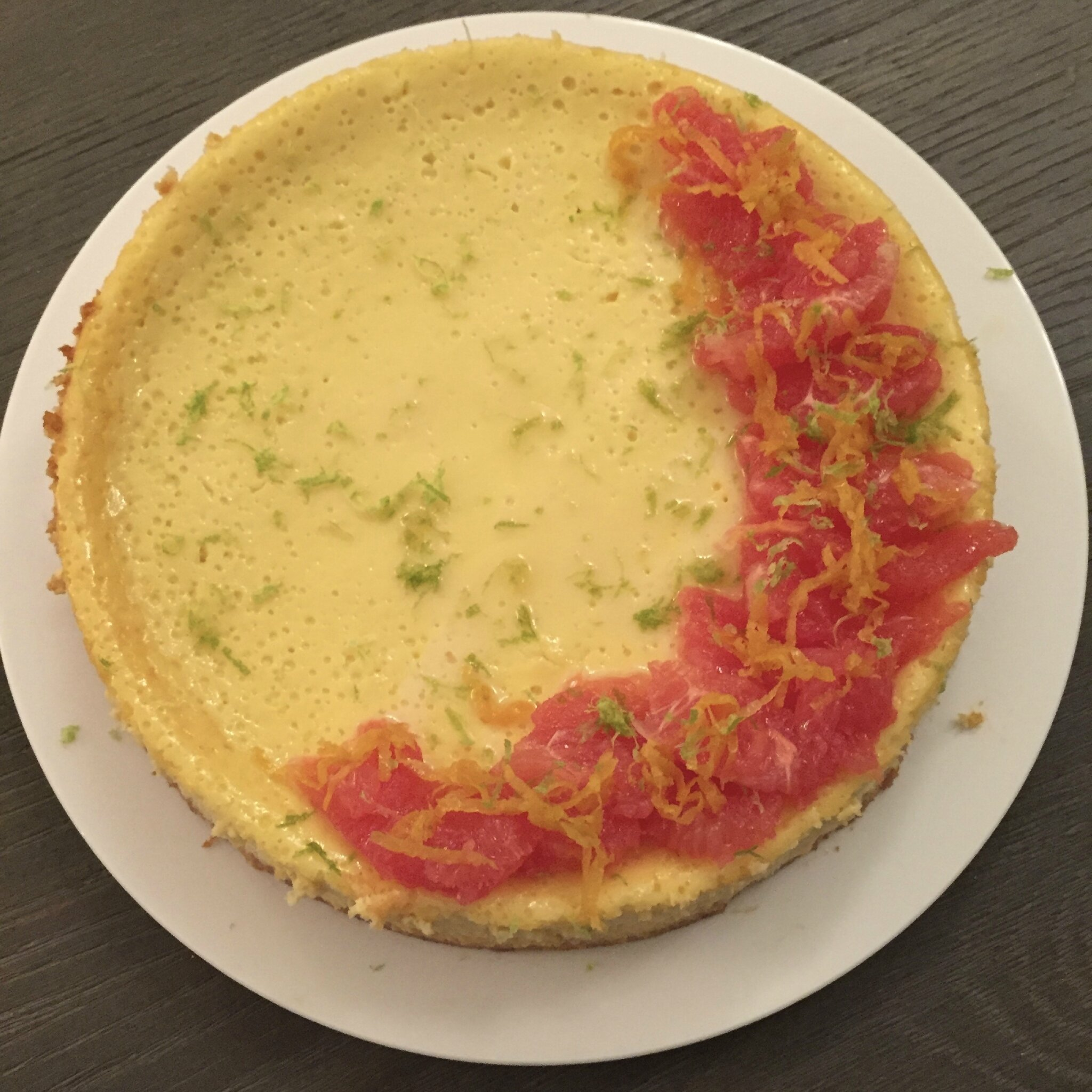 Cheesecake au pamplemousse
