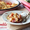 Crumble pomme-rhubarbe-coco