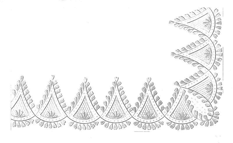 1815 Regency Needlework Pattern 9
