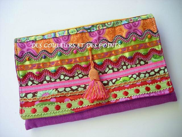 pochette plate galons