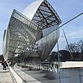 Le beau musée vuitton au bois de boulogne .paris.