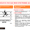 Calendrier fiscal mois d'octobre 2018 / drc october tax schedule
