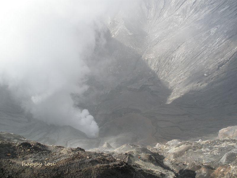 Au fond du volcan Bromo