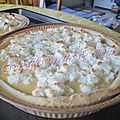Tarte à l'orange à la neige de coco
