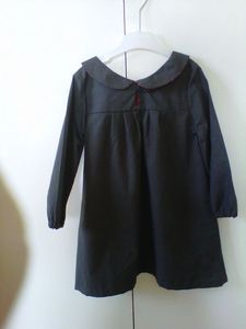 Robe blouse col claudine dos