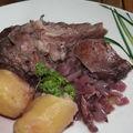 Museau de porc au vin rouge