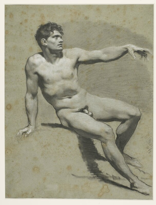 Prudhon_seated_nude_arm_extended