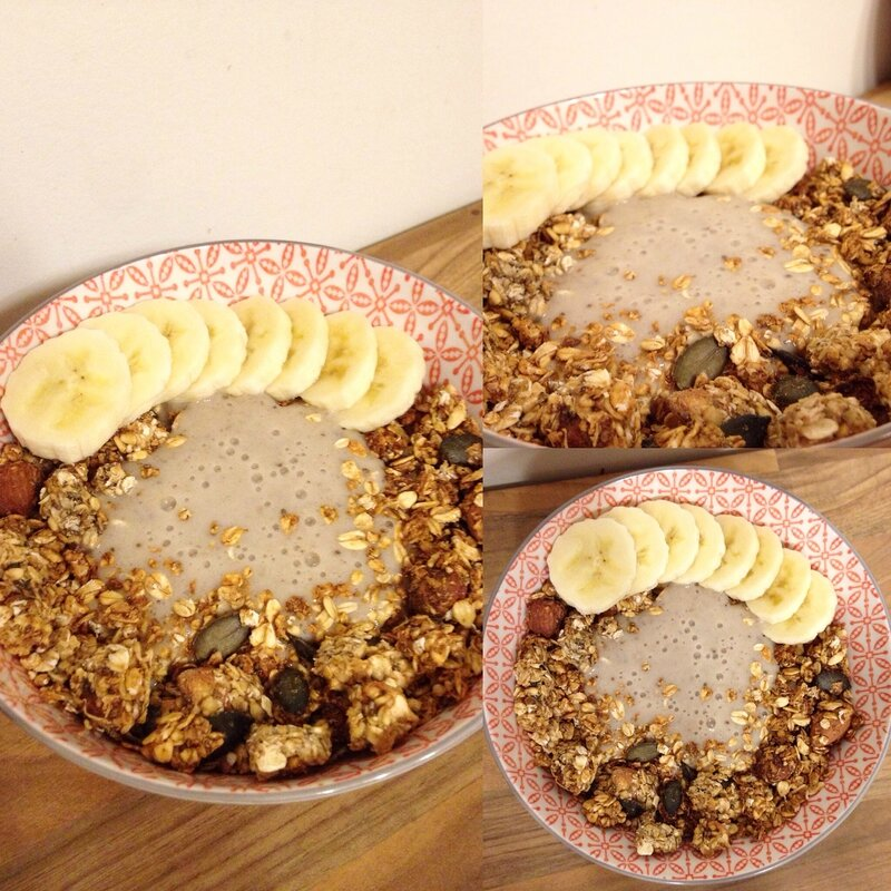 granola bananes, fruits secs et graines (5)