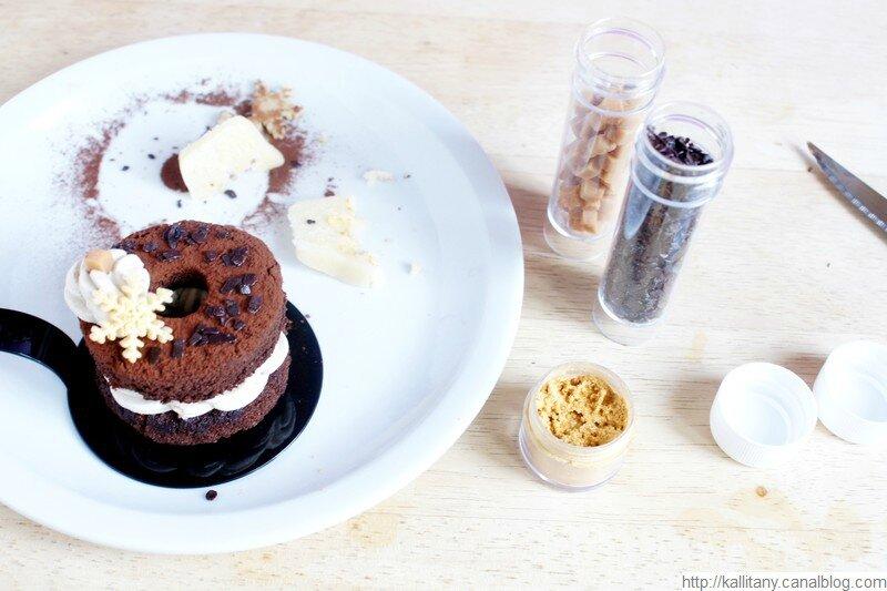 Blog culinaire Kallitany - Recette dessert couronne Noël chocolat café (9)