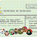 Vente de créateurs du 4 au 10 juin 2012