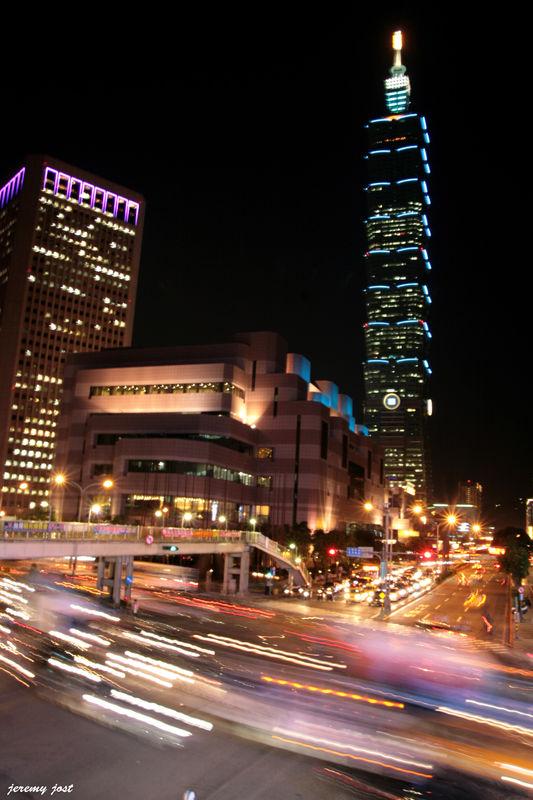 city lights taipei