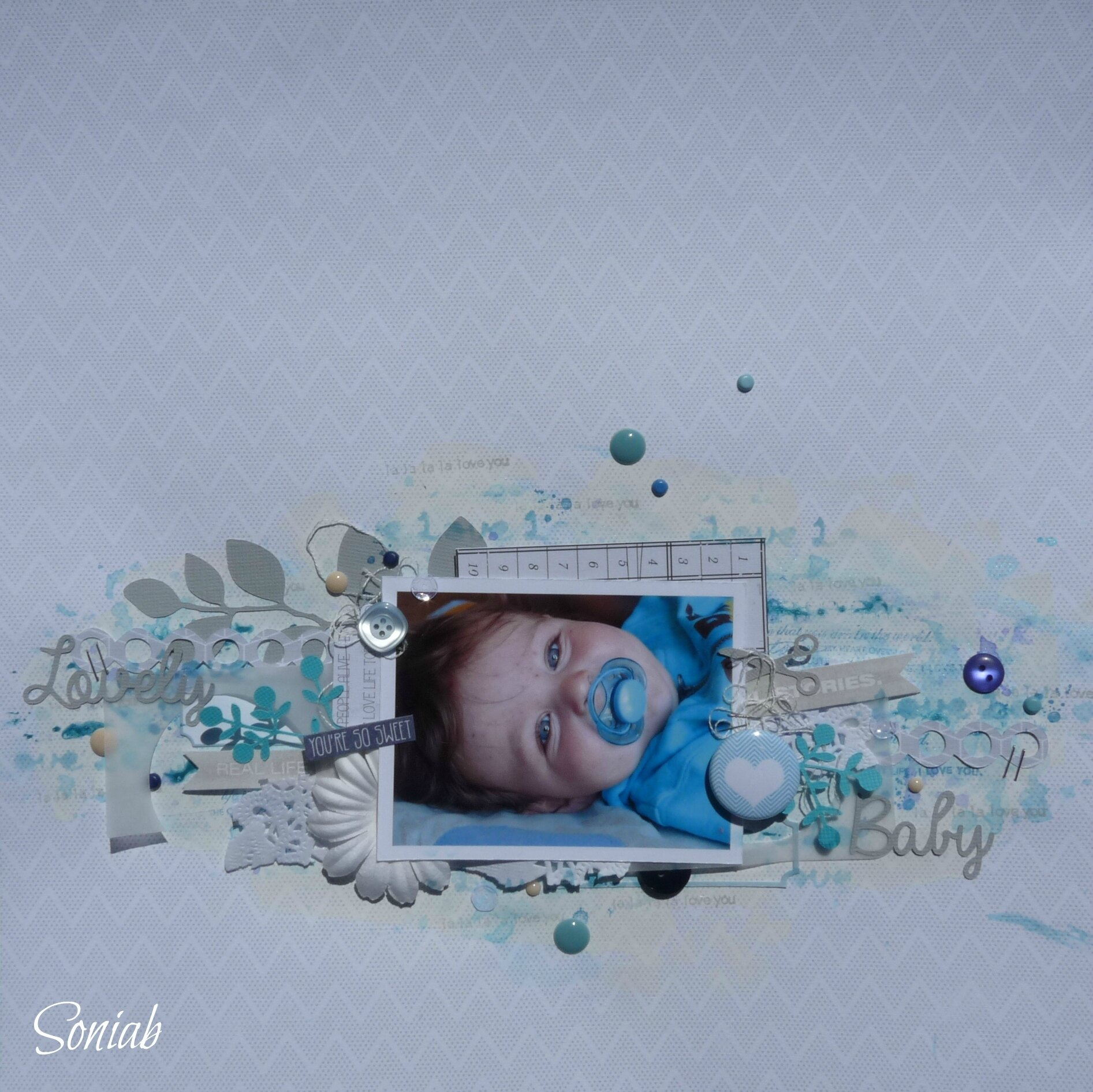 """Page """"Lovely Baby"""", atelier Flore"""