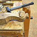 pied volute ,conservation of antique furniture