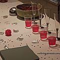 Table de vin d'honneur rose et gris