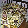 Farmer's wife sampler quilt,avancée de mai