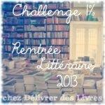 Challenge 1% Rentrée Littéraire 2013