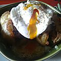 Pommes de terre gratinées au milin goz, à l'andouille de guéméné, aux oignons caramélisés et herbes fraîches... alea jacta est.