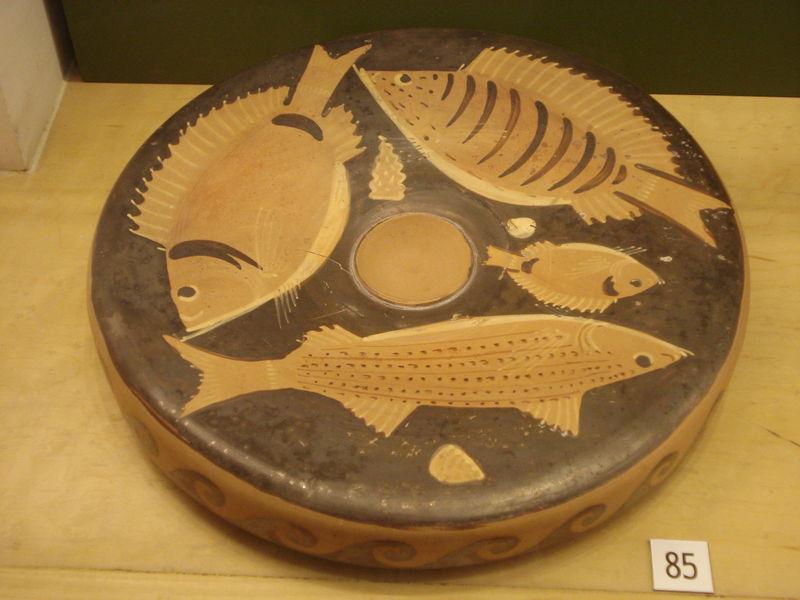 plat à poisson, chez les grecs