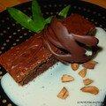 Gâteau au chocolat tout léger - sauce vanillée à la verveine