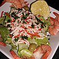 Salade solo aux crevettes