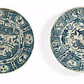 Two Swatow blue and white dishes for the Islamic market, Late Ming Dynasty, 16th-17th century