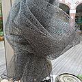 Echarpe Lurex gris argent