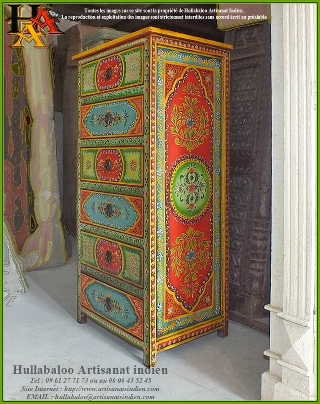 chiffonnier-peint-meubles-indiens-peints-02b