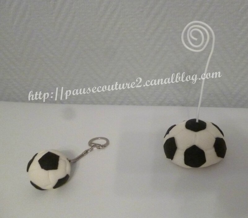 porte photo et porte clefs foot b