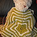 Star teddy bear blanket
