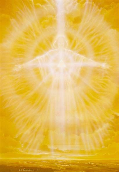 illumination croix doré