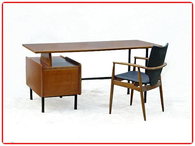 Bureau Jacques Hauville design moderniste vintage