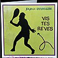 carte d'anniversaire tennis avec broderie