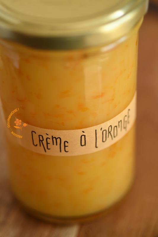 Crème à l'orange sans oeufs