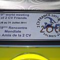 26 au 31 juillet 2011 pour la 19e rencontre mondiale des amis de la 2cv.