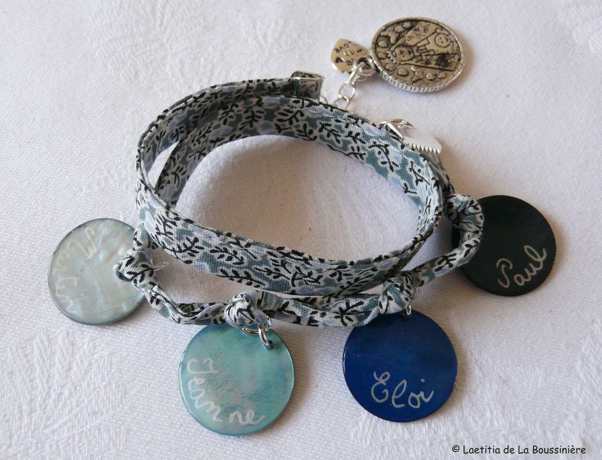 Bracelet personnalisé sur ruban Garrigue
