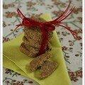 Pour changer des zimsterne et autres biscuits de noël (3) : sablés aux lentilles vertes et noisettes, sans blé, sans lait