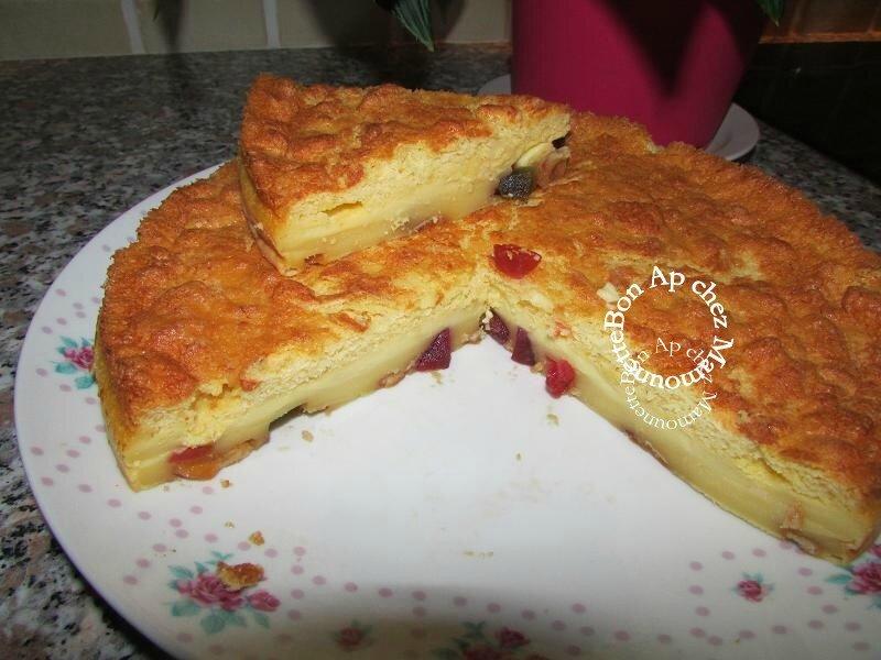 gâteau 3 D aux fruits confits et arôme amande amère 018