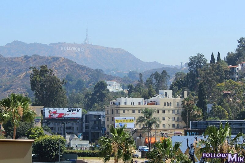 Hollywood sign seen from Hollywood Bd