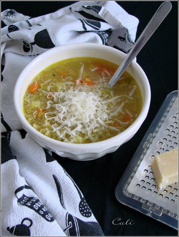 Soupe Originelle au Quinoa, Légumes & Beaufort 002
