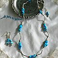 Collier chips turquoise