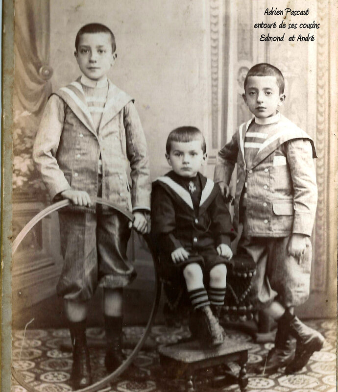 Adrien et ses cousins Edmond et André