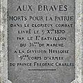 5 mars 1871 - l'hommage aux hommes tombés à montlivault