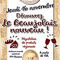 Beaujolais nouveau...