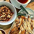 Poulet à la gordon (paprika, chorizo, haricots blancs)