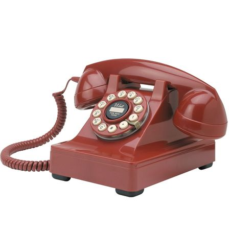 telephone retro rouge