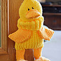 Quacky baggles - knitting by post