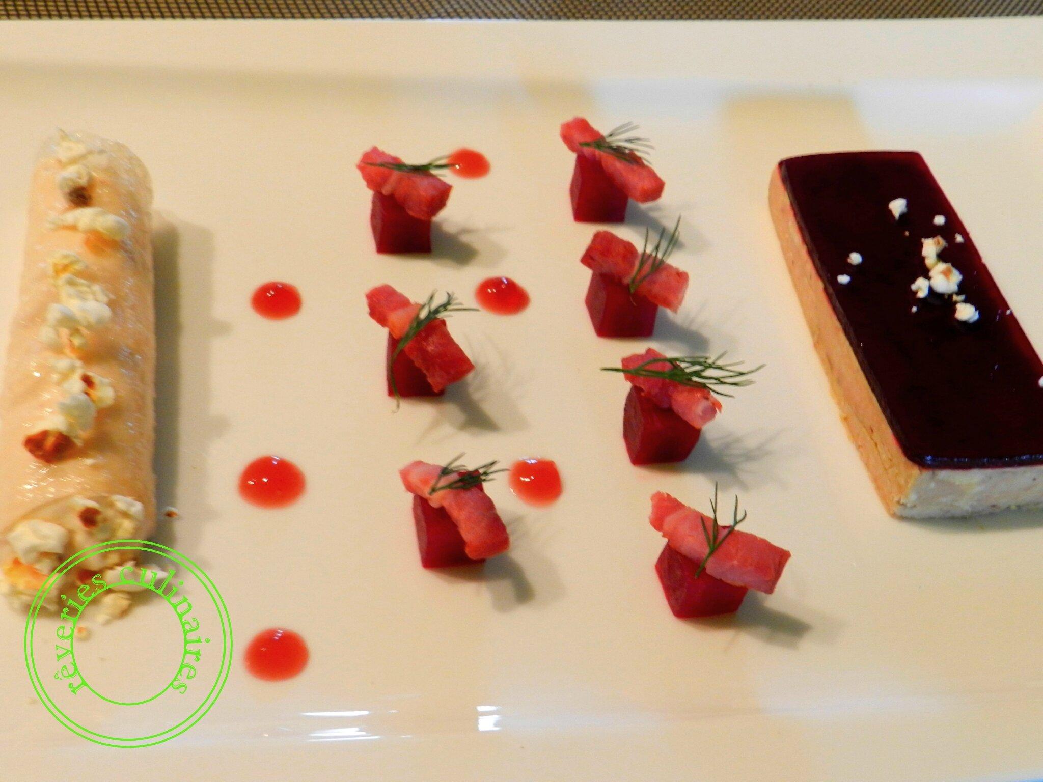 Pressé de foie gras de canard à la gelée de betterave