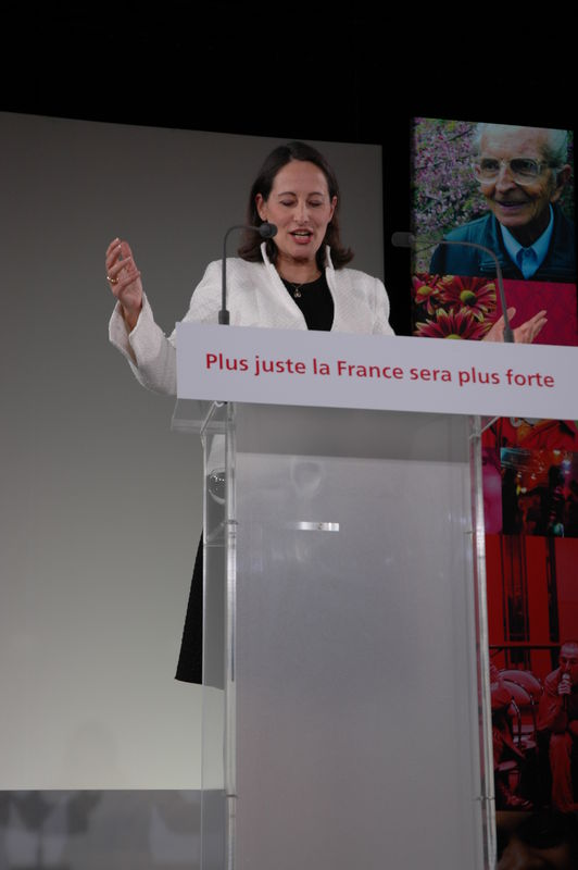 Meeting politique lors de la presidentielle.Segolene royale.